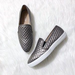nine west damien quilted slip on sneakers